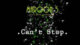 maroon 5 can't stop