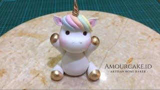 How To Make A Fondant Unicorn Cake Topper