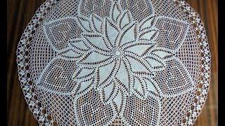 Round Hand Crochet White Doily/ How To Crochet/Beautiful Doily/crochet Diy/crochet Inspiration
