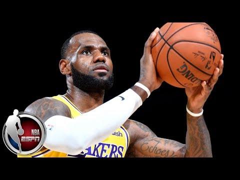 581dbec9273f LeBron James ignites crowd in Los Angeles Lakers preseason debut vs Denver  Nuggets