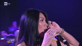 Anggun Snow on the Sahara live performance Concerto Epifania 2018 01 06