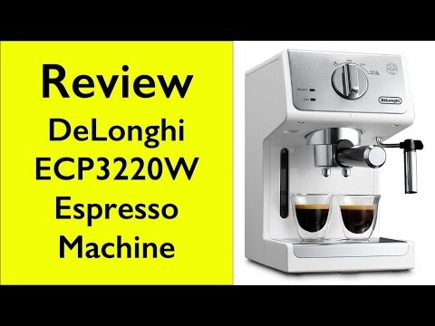 , DeLonghi ECP3120 15 Bar Espresso Machine with Advanced Cappuccino System, Black/Stainless Steel