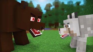 Bear vs Wolf Life: Full Animation I - Minecraft Animation