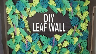DIY Tropical Leaf Wall Backdrop