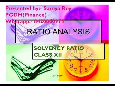 Ratio Analysis Class XII