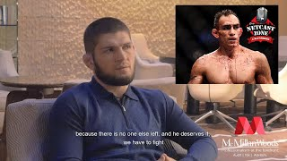 "Khabib Nurmagomedov's latest interview ""Tony Ferguson fight is on"" 