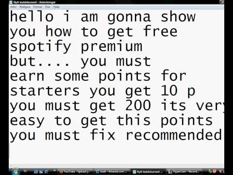 Earn some points and get spotify premium !!!! 100% WORKS!