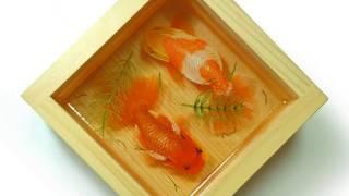 3D金魚立体画制作風景