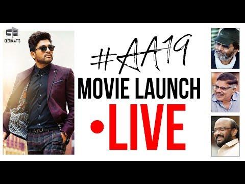 Allu Arjun & Trivikram's Film Launch Live