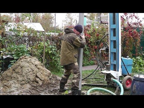 Бурение скважин на воду при помощи малогабаритной буровой установки БС 1/скважина/вода/результат!!!