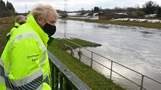 video: Storm Christoph: Boris Johnson  pledges £20m for flood defences and warns more rain will come