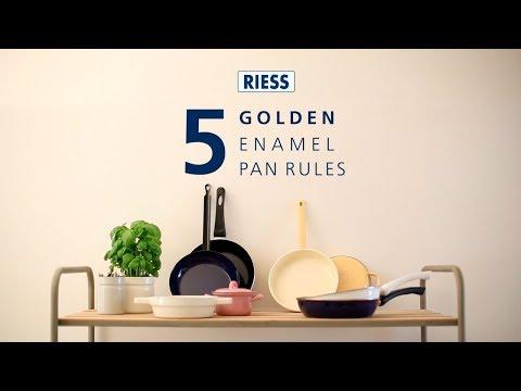 Riess steelpan met schenktuit ø 16cm citroengeel