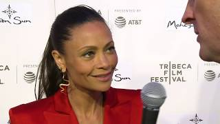 Thandie Newton breaks down Maeve at the Westworld Season 2 New York red carpet with Brad Blanks