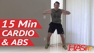 15 Min Insanity Cardio Abs Workout for Women & Men at Home - Cardio Workouts - Aerobic Ab Exercises by HASfit