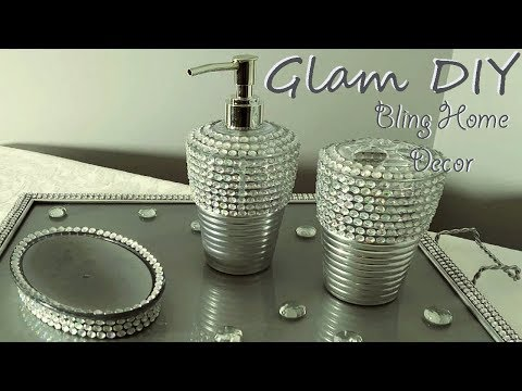 Dollar Tree Bling Glam Bathroom Accessories Glam Home Decor Ideas