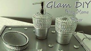 Dollar Tree Bling Glam Bathroom Accessories Glam Home Decor Ideas
