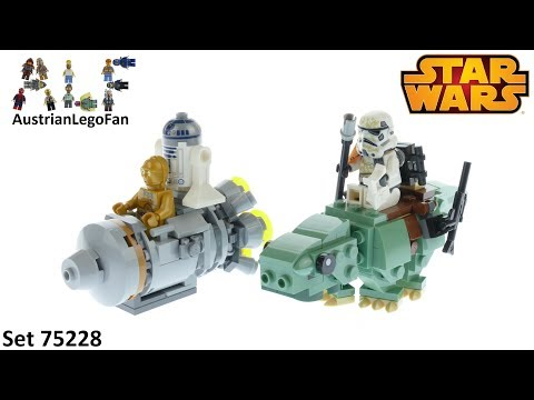 Vidéo LEGO Star Wars 75228 : Capsule de sauvetage contre Microfighter Dewback