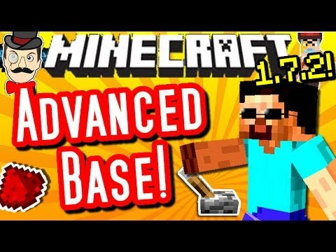 Minecraft ADVANCED BASE! 1.7.2 Redstone Creation!