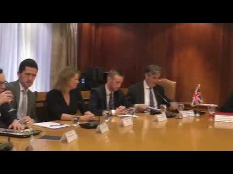 لقاء الوزير / عمرو نصار مع وزير التجارة الدولية البريطاني والوفد المرافق له