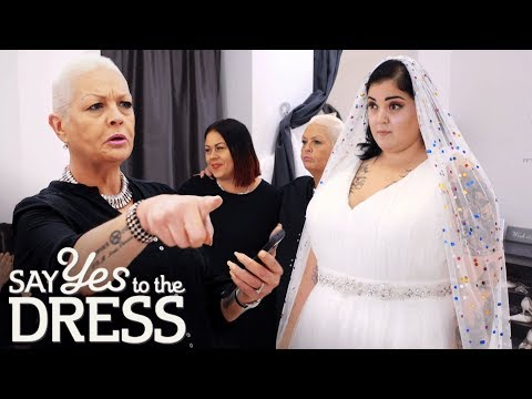 Will The Bride Find A Dress To Go With Her Polka Dot Veil | Curvy Brides Boutique