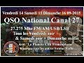 Vendredi 14 Septembre 2018 21H00 QSO National du canal 27