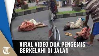 Viral Video 2 Pengemis Wanita Berkelahi Berebut Lahan Mengemis, Malah Ketahuan Pura-pura Pincang