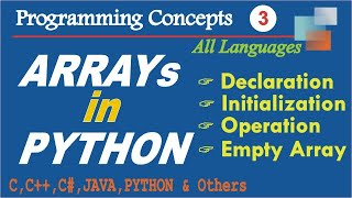 Declaring, Initializing and Accessing elements of Array in Python | Empty Array