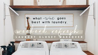 DIY Small Laundry Closet Makeover | Weekend Refresh For My Parents!!!