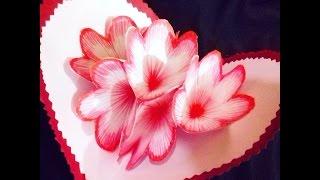 DIY 3D flower pop up card طريقة عمل كارت الزهور الثلاثي الابعاد