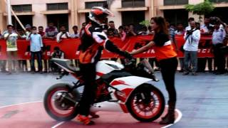 KTM Stunt Show Anantapur    DFG Stunt Riding    KAIZEN Automotives    Duke 250 Launch