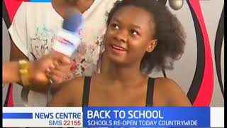 BACK TO SCHOOL: Students head back to school after two month break