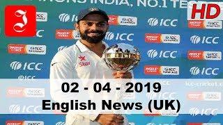 News English UK 2nd April 2019