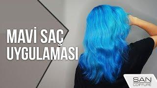 Mavi Renk Saç Nasıl Yapılır? - Blue Hair Dye