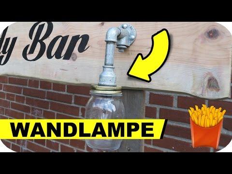 Wandlampe selber machen - Steampunk