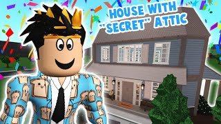 building a bloxburg house with a SECRET ATTIC... it's totally hidden