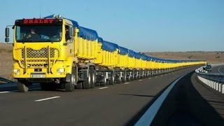 The Worlds Longest Truck  Road Train In Australia