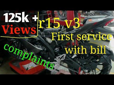 Yamaha r15 v3 1st Service Cost ?? | Bike service every step