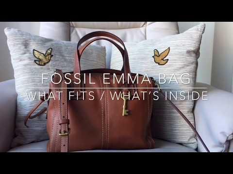 What Fits | Fossil Emma Satchel Bag | #43