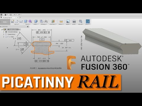 Picatinny Rail from Drawing to 3D Model in Fusion 360
