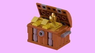 How to Make a LEGO PIRATE TREASURE CHEST! Intermediate Build - LEGO Academy DIY Tutorial for Kids