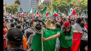 Huge Party In Mexico City after MÉXICO vs ALEMANIA 🇲🇽⚽️🇩🇪