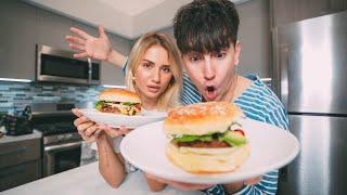 Cooking Vegan Burgers with Girlfriend! (Taste Test)