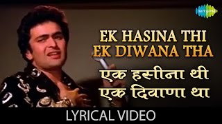 Ek Haseena Thi With Lyrics   एक हसीना थी गाने के बोल   Karz   Rishi Kapoor, Tina Munim, Simi