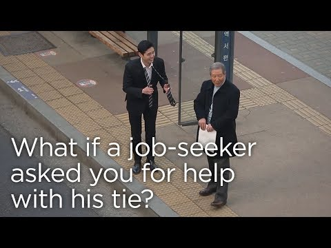Would You Help a Job Seeker with His Tie?