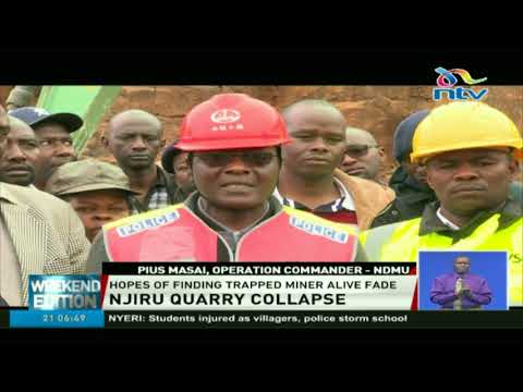 Rescue operations at Njiru quarry halted after debris covering entrance caved in