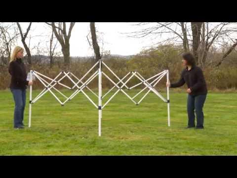 Aufbauvideo ShelterLogic Falt-Pavillon Truss-Top 3x3 inkl. Rolltasche