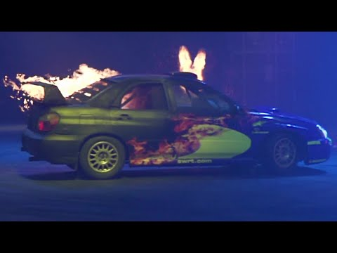 Crazy Slow-Mo Subarus On Fire! | Top Gear Live 2014 Glasgow