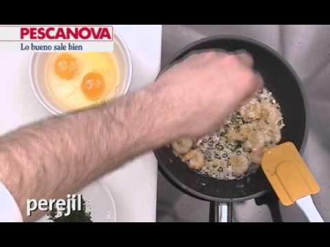 Imagen de la receta de Revuelto de Gambas y Verduras