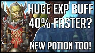 HUGE EXPERIENCE BUFF! Leveling Just Got A Lot Faster & New Exp Potion   WoW Battle for Azeroth