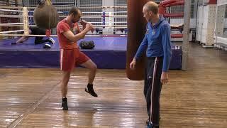 Бокс: Координационные упражнения на мешке (English subs)